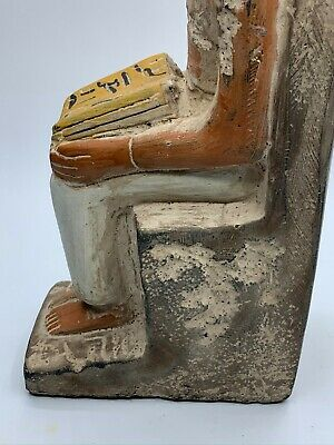 RARE EGYPTIAN EGYPT ANTIQUES ANUBIS God Deity Dog STATUE Carved 3.Kg STONE BC 10