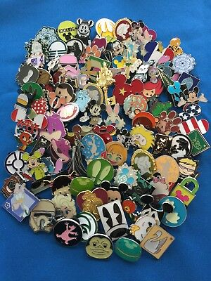 Disney Trading Pins 100 lot NO DUPLICATES Fast Priority Shipping - US Seller