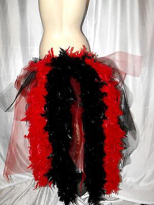 NOUVEAU Big Peacock Dancer Couche Bustle Ceinture Plumes Carnaval Déguisement