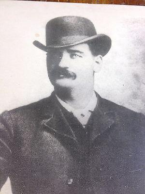 Dodge City Deputy Gunman BAT MASTERSON Vintage 8x10 Photo Old West Portrait