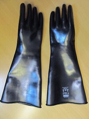 glatte Chemiehandschuhe,Gummihandschuhe,Latexhandschuhe,XL-9,5/10,-1,3 mm 3