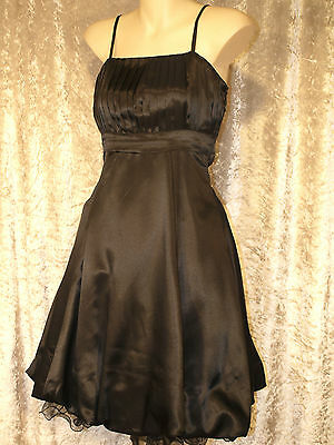 Leaver's Prom Formal Satin 1950's Style Party Dress with Full Gathered Skirt M 2