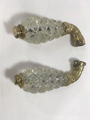 Vintage Oriental Brass Mythological Fish Koi Water Faucet Spigot Crystal Handle 3