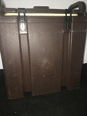 Cambro Brown Insulated Soup/Beverage Carrier 350LCD 3.3/8 Gallon Capacity. #12 3