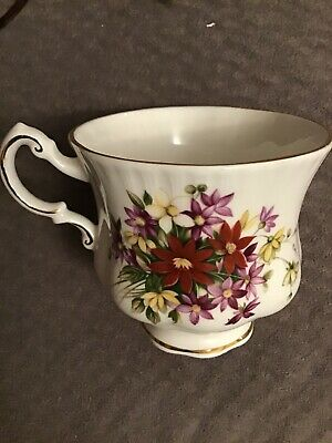 Excellent Paragon Bouquet Flower Festival Cup And Saucer 1# Quality England 5