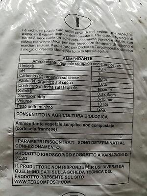 Terra Terriccio Bio substarto specifico per orchidee 10 litri