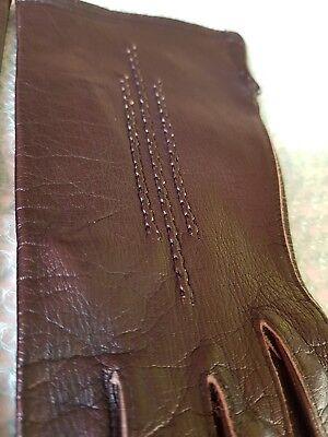 Vintage Retro 'Eleganta' Black Colour Leather Gloves Size 6.5 Small 6