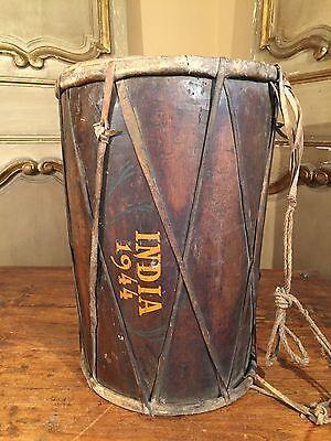 Antique WWII Drum India Wars 1944 VERY RARE!