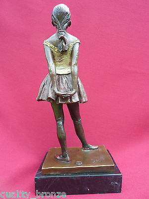 Edgar Degas Ballerina Dancer Signed Bronze Statue Figure Hot Cast Sculpture