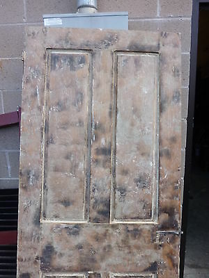 "Early 19th century RAISED panel door w/ SMOKED design decor 76 x 30 x 1 7/16"" 7"