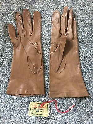 Brand New Pittards Brown Leather Gloves Size 6 1/2 2