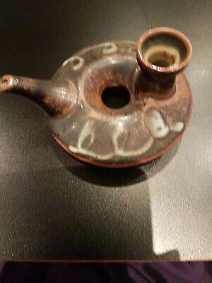 Oriental Pottery Oil Lamp 5