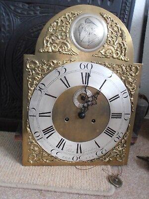 Antique 8 Day Brass Arch Dial Oak Grandfather Longcase Clock ALEX GORDON DUBLIN 6