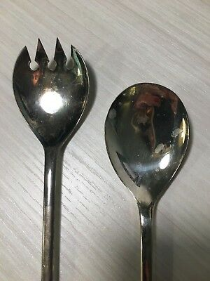 Vintage FB Rogers Italy Silver Serving Spoon and Fork Set 3