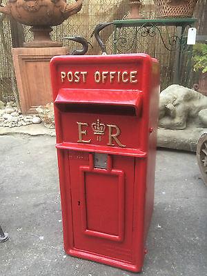 ER Royal Mail Post Box  ERII pillar box Red cast iron post box post office box 3