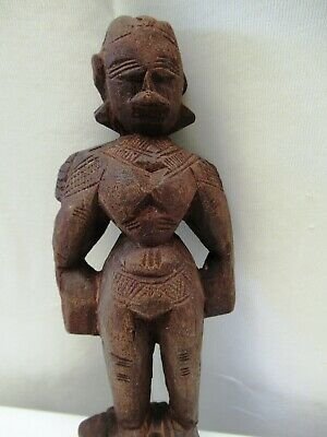 Antique Wooden Doll Hand Crafted Putali Figurine Indian Art Carved Collectibles* 3