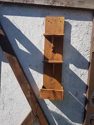 antique pine wall shelves - 5