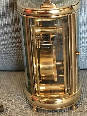 Nice Old c1920 Miniature Oval French Carriage Clock Original Lever Escapement 6