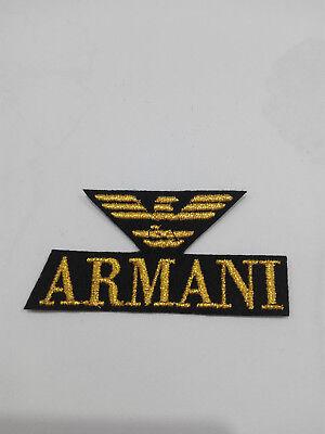Parche bordado para coser estilo Armani 7/3,5 cm adorno ropa PERSONALIZADA 3