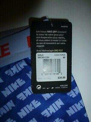 Nike Girls Indigo Force Blue Dri FIT Graphic Leggings Size 6X New 36E360 4
