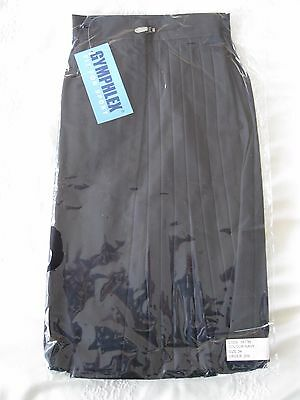 "GYMPHLEX 27 - 30"" Waist Girls/Ladies NAVY Gym Sports Skirt (kilt Style) - NEW! 9"