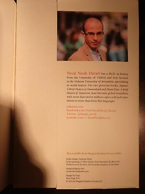 SIGNED 21 Lessons for the 21st Century by Yuval Noah Harari, autographed, new 8