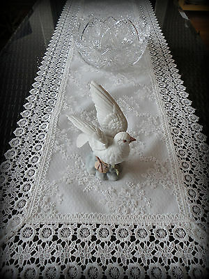 Dresser Scarf Table Runner Ivory Princess Lace European
