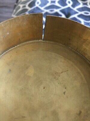 Antique Asian Brass Enameled Lidded Canister Jar 12