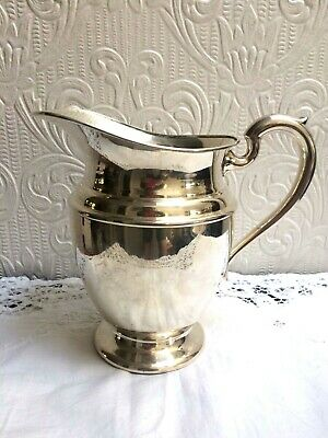Vintage Mid Century PSCO Preisner Silver Co. Silverplate On Copper Water Pitcher 3