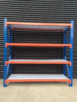 New 2M Garage Warehouse Steel Storage Shelving Shelves Racking Racks Blue 2