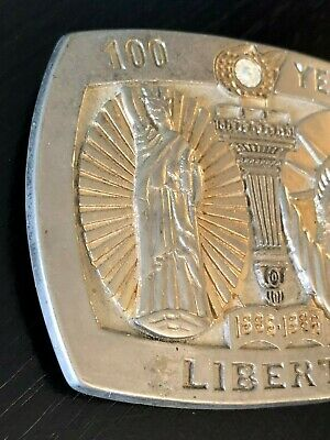 100 Years of Liberty Belt Buckle Statue of Liberty Sterling Treasury Numbered 3