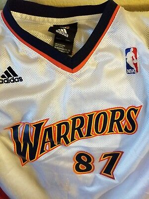 info for 9f22a 38796 GOLDEN STATE WARRIORS Jersey- Youth Medium - Throwback - Adidas - 87