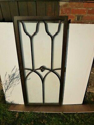 Pair of antique Cuban Mahogany astral glazed cupboard doors 9