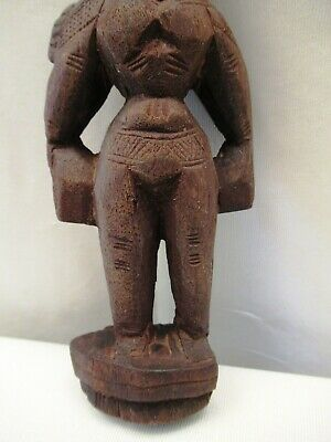 Antique Wooden Doll Hand Crafted Putali Figurine Indian Art Carved Collectibles* 4