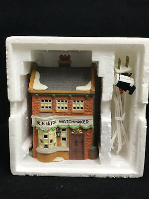 Dept 56 Dickens Village Series Geo Weeton Watchmaker Porcelain Collectible 7