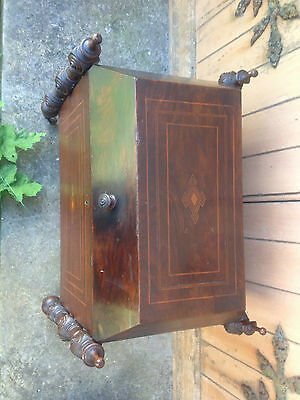 Antique Early 19th Century Inlaid Mahogany Sarcophagus Shaped Wine Cellarette 8