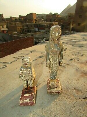 Antique Pharaonic Statues Made Of Wood, Horse And Nefertiti, Rare Made In Egypt 10