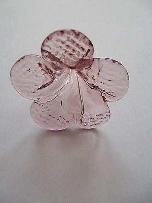 rare pretty unusual handmade AMETHYST/PURPLE  glass flower chandelier drop(UBA1) 4