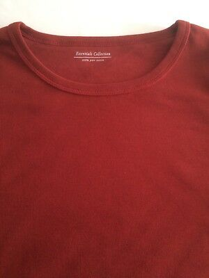 M&S Ladies Long Sleeve Crew Neck T Shirt Pure Cotton,sz 6-24,free postage 3