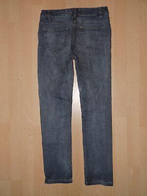Mädchen Jeans grau gerade Beine robust Gr. 158 3