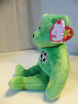 TY Beanie Babies Soccer Bear ** KICKS **  5th Generation New w/ Tag