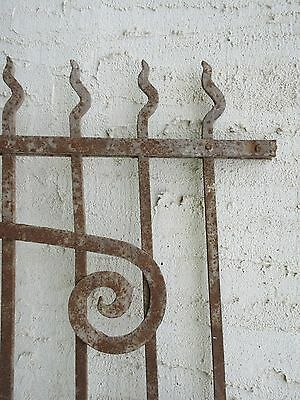 Antique Victorian Iron Gate Window Garden Fence Architectural Salvage Door #72 5