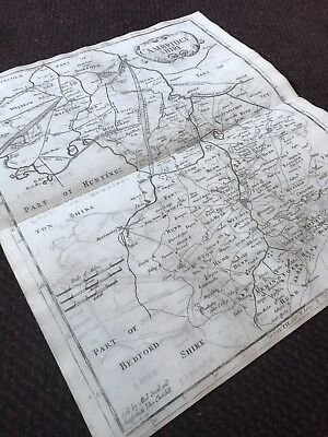 1695 COUNTY of CAMBRIDGESHIRE Original English Antique Map  Robert Morden RARE 7