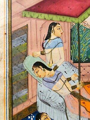 18Th-19Th C Antique Mughal (India) Miniature Illuminated Manuscript Opaque W/C 10