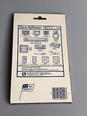 Decor Bathware Sierra Oak Single Switch Plate D5050 USA Made 2