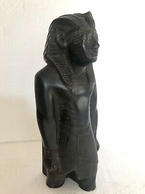 ANCIENT EGYPTIAN ANTIQUE Bronze Pharoh Signed Adele 10