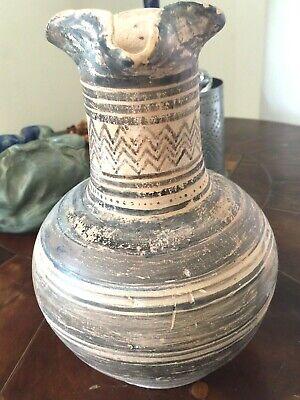 Ancient Greek Pottery Pitcher Attic Geometric  Pattern c 950 BC Oinochoe 3