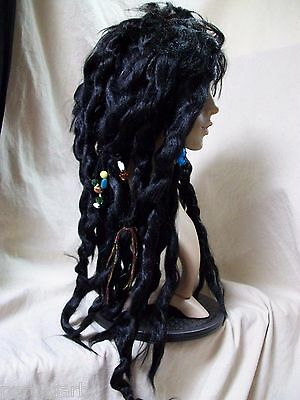 UNISEX VOODOO DREADS Wig Reggae Mambo Witch Doctor Priestess Priest Pirate  Mon