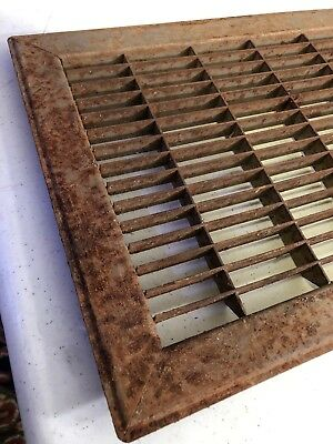 N6 Antique Sheet Metal Cold Air Return/heating Grate 2