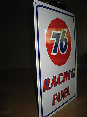 UNION 76 Racing Fuel Gas Pump SIGN Service Station unicol oil Ad Logo Free Ship 5